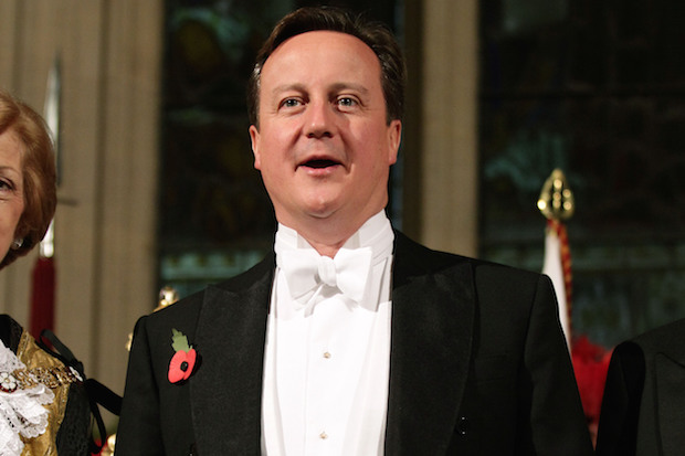 Cameron speaks at Lord Mayor's Banquet