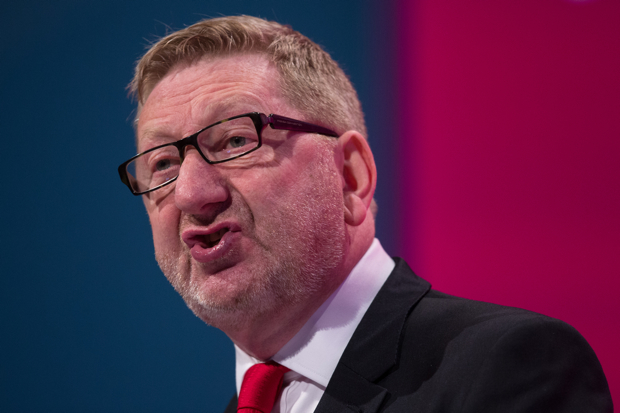 MANCHESTER, ENGLAND - SEPTEMBER 22:  Len McCluskey, the General Secretary of the union Unite, delivers a speech to delegates on day two of the Labour Party Conference on September 22, 2014 in Manchester, England. The four-day annual Labour Party Conference takes place in Manchester and is expected to attract thousands of delegates with keynote speeches from influential politicians and over 500 fringe events.  (Photo by Oli Scarff/Getty Images)